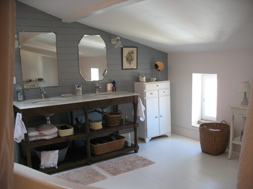 Une salle de bains rétro