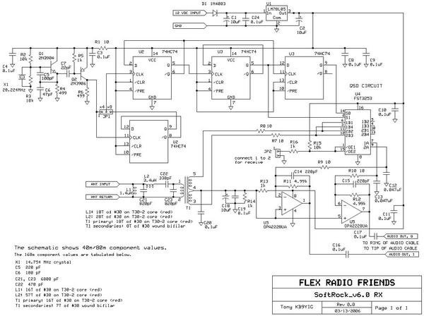 Softrock 40 V6 Schematic