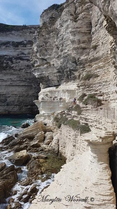 Corse : Bonifacio, Escalier d'Aragon 2/2