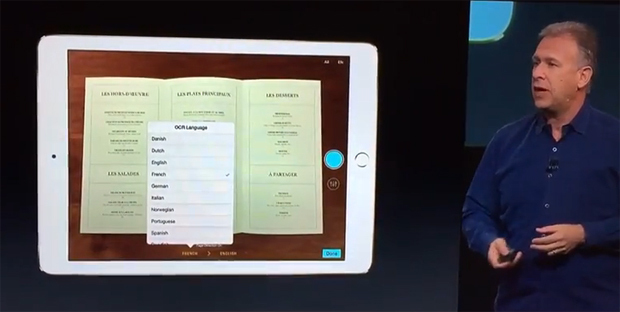 creacced ,marketing ,'Apple, Phil Schiller   une ,  application Prizmo ,nouvel iPad ,Crédit photo : Apple