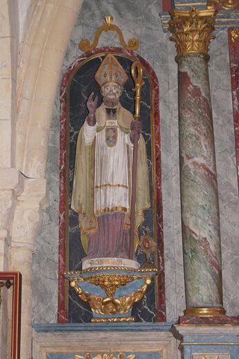 Statue de Saint-Germain-le-Scot Eglise Saint-Germain de Saint-Germain-sur-Ay ERNOUF Guillaume.JPG