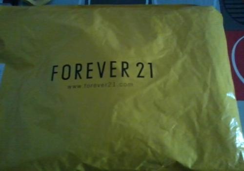 Commande de chez Forever21
