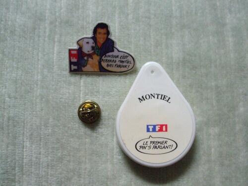 Pin's Parlant TF1 - Bernard Montiel & Farouk