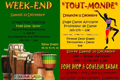 ★ Stages Percussions [Plusieurs Dates]
