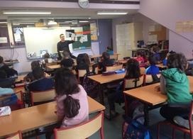 La venue d'Antoine Guillopé dans notre classe.