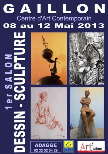 Gaillon (Eure) : Premier Salon du dessin et de la peinture...