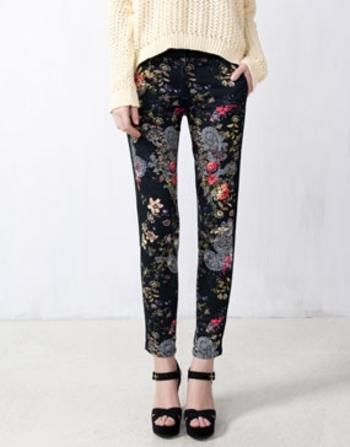 pantalon imprimé oriental