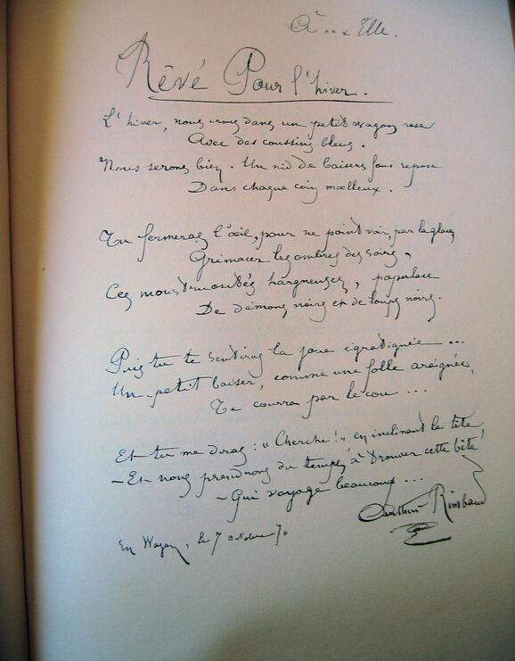 Manuscrit: Rêvé pour l'hiver