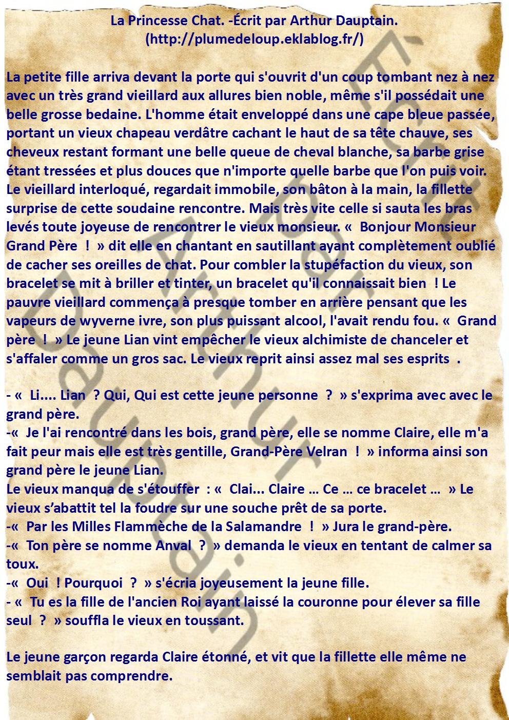 La Princesse Chat: Chapitre 2, Bois d'Enfance
