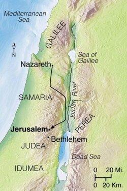 Nazareth to Bethlehem.