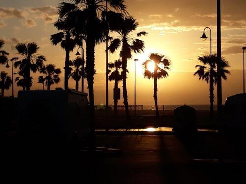 Lever de soleil sur Roquetas
