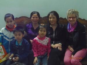 Marie et Elisabeth avec notre famille