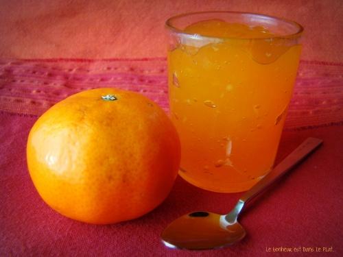 Gelée de mandarines à la vanille