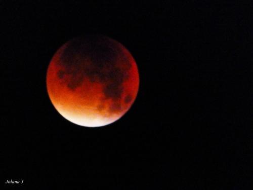 Lune rouge sang éclipse