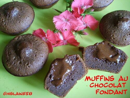 Muffins au chocolat fondant