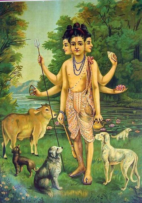 Les 24 gurus de l'avatar Dattatreya