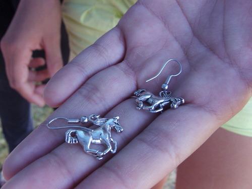 Boucles d'oreilles chevaux au galop
