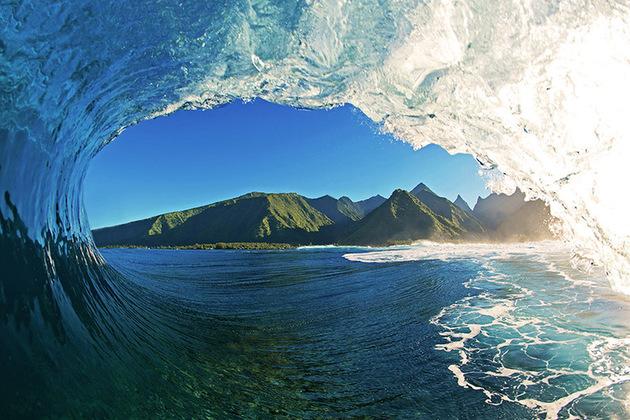 Teahupoo à Tahiti