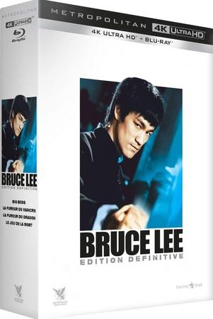 Coffret Bruce Lee Edition Définitive Big Boss La fureur de vaincre La fureur du dragon Le jeu de la mort
