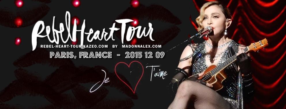 Madonna Rebel Heart Tour Paris Bercy Arena 9 Decembre 2015