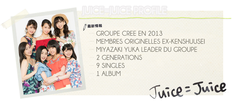 BIOGRAPHIE DES JUICE=JUICE