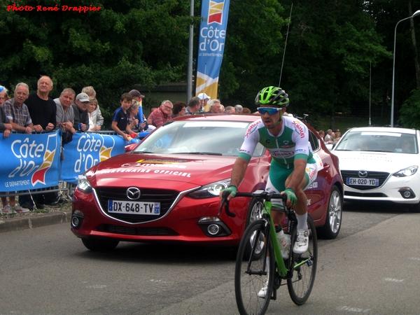 René Drappier a assisté à l'arrivée, à Châtillon sur Seine, de l'étape du Tour de Côte d'Or 2017