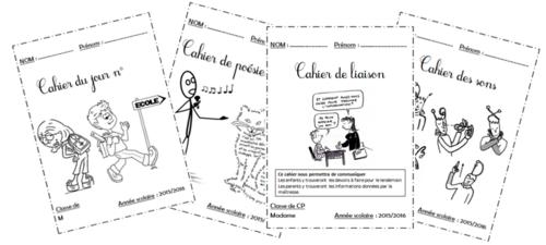 Pages de garde des cahiers de CP