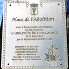 La plaque, Place de l'Abolition