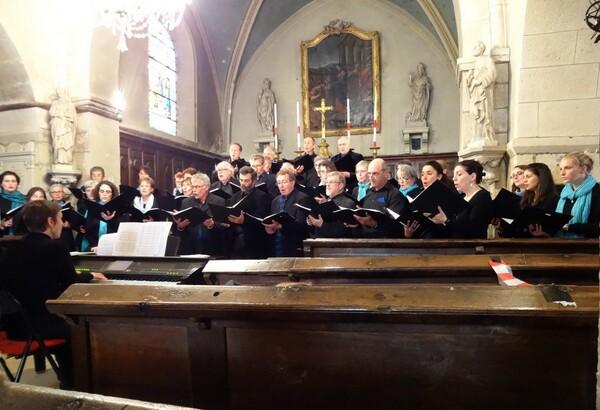 Le Chœur de Haute Côte d'Or a donné un très beau concert à Recey sur Ource