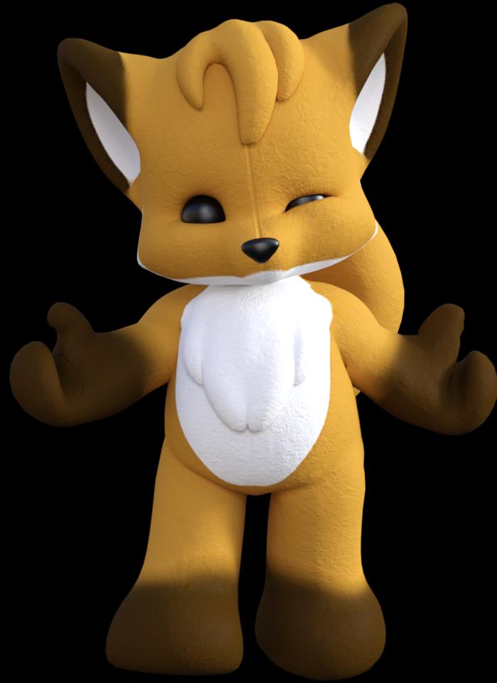 Tube de renard toon (render-image)