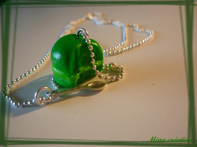 Douceur de macaron vert