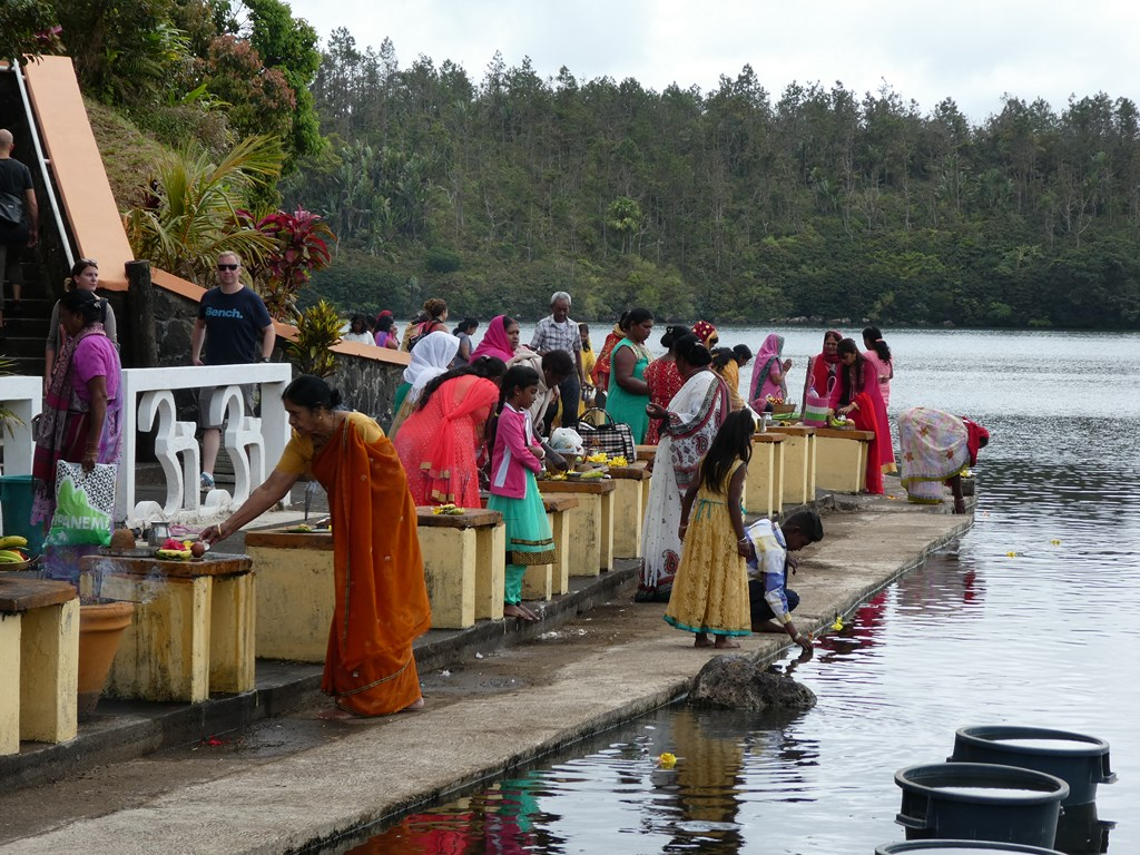 Ile maurice - Grand Bassin lac sacré Ganga Talao
