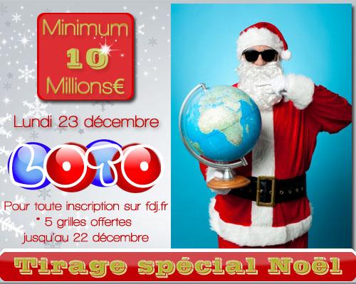 Tirage spécial Noël - lundi 23 décembre 2013