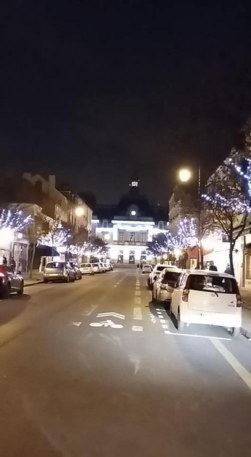 Illuminations de ma ville pour les fêtes