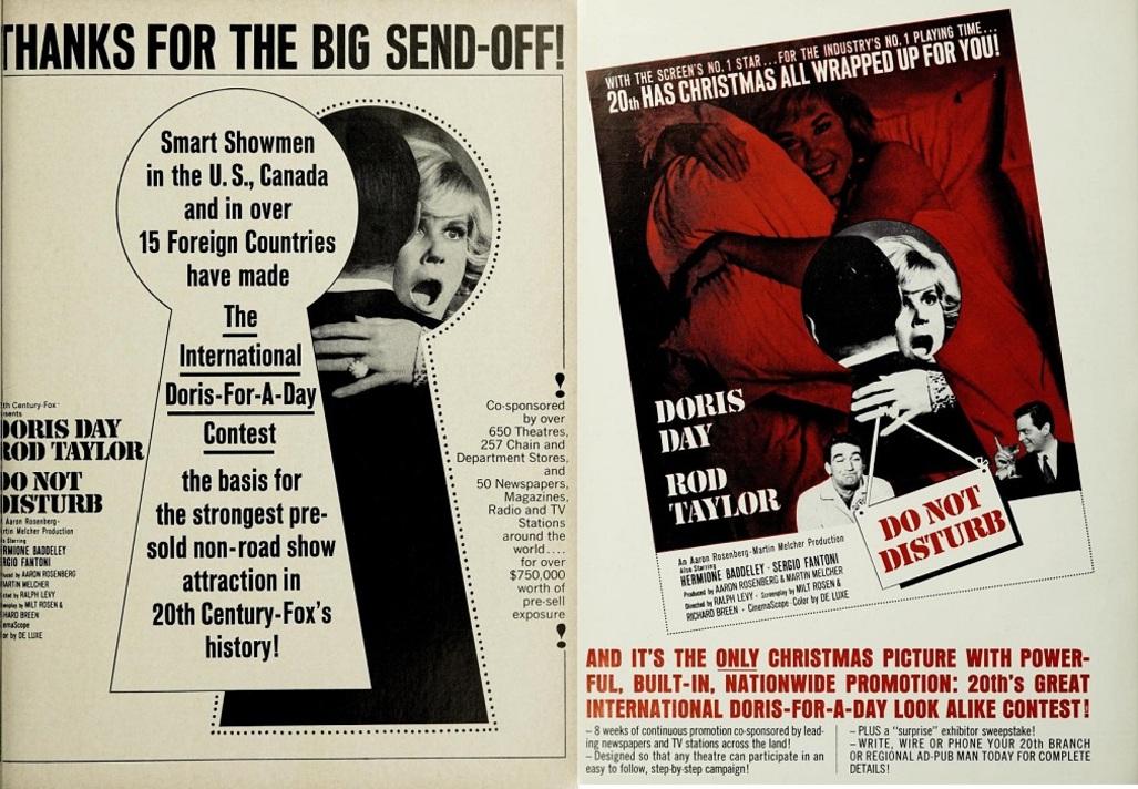 DO NOT DISTURB BOX OFFICE USA 1966