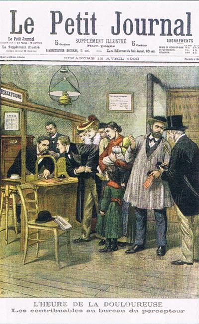 L'impôt de la discorde, il y a cent ans