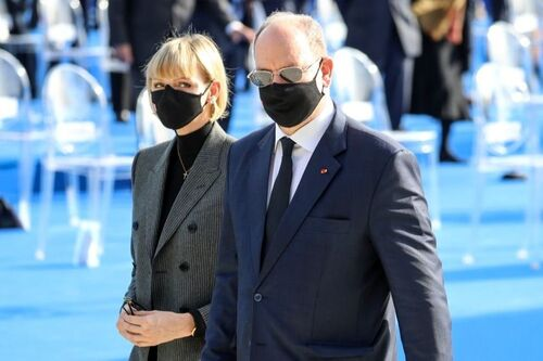 Albert et Charlène à Nice
