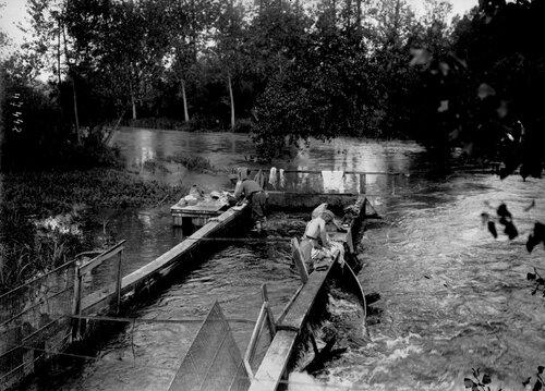 La Grande Guerre expliquée en images. En 1916, à  Frise (Somme) le lavoir des poilus