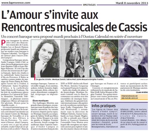 Cassis : L'Amour s'invite aux Rencontres musicales