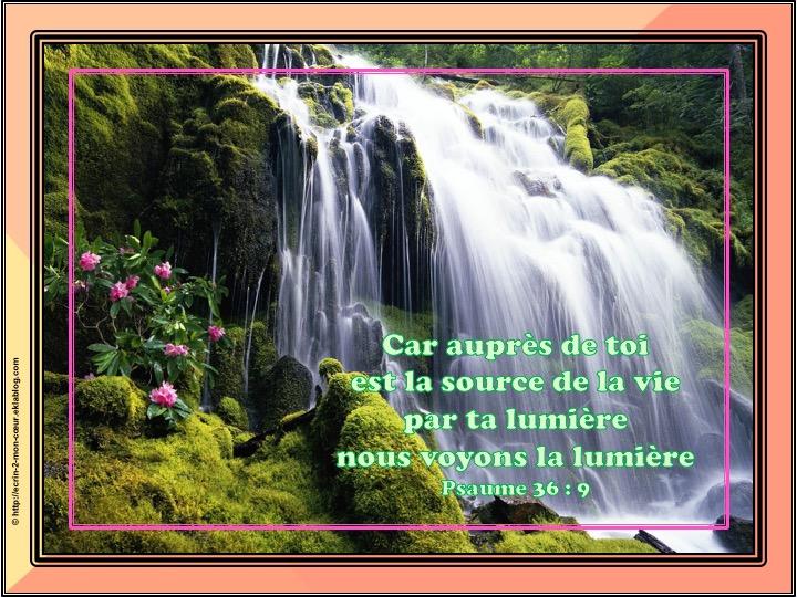 Auprès de toi est la source de la vie - Psaumes 36 : 9