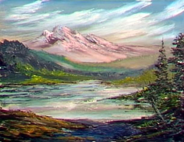 Dessin Et Peinture Video 1673 La Montagne Rose Au Soleil