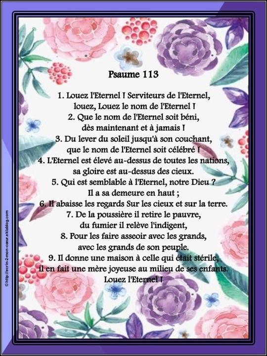 Psaume 113