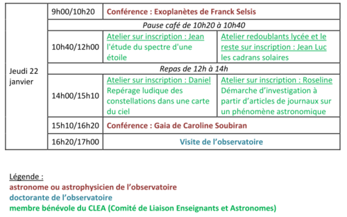 Stage Astronomie