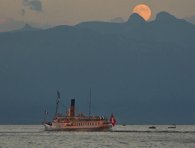 Bateaux sur le Lac Léman