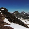 En arrivant près du sommet du Garmo de Izás, pico de Anayet et Ossau