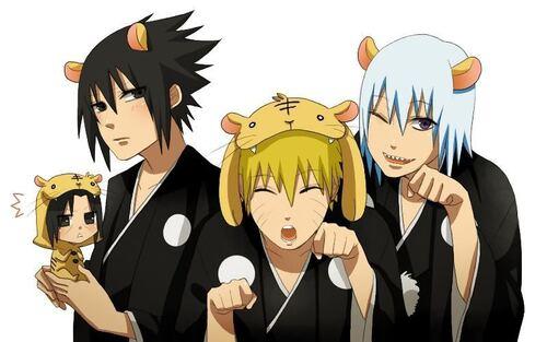 Sasuke,Naruto et Suigetsu