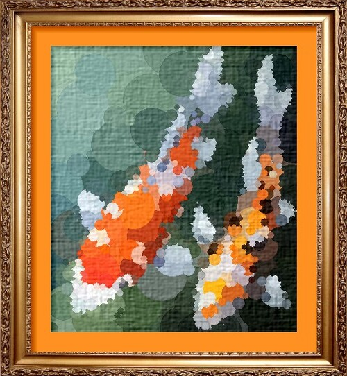 Dessin et peinture - vidéo 2185 : Comment peindre à l'acrylique les carpes Koï sur toile 2 ?