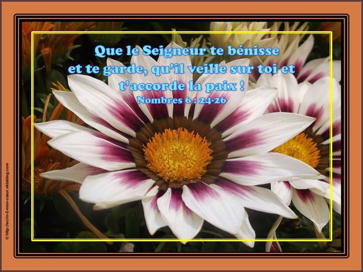 Que le Seigneur te bénisse et te garde - Nombres 6 : 24-26