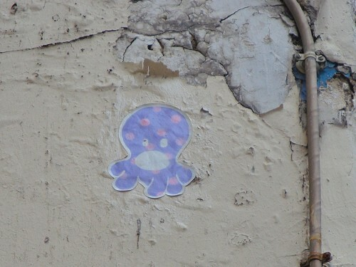 pieuvre Beaubourg street-art 2