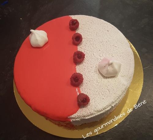 Entremet framboise /chocolat blanc